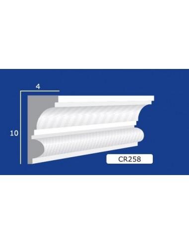 CORNICE IN GESSO CERAMICO DA PARETE 258 Prezzo Riferito A 1,5 MTL N.B. le cornici sono confezionate da cm.75