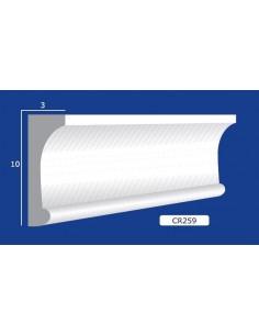 CORNICE IN GESSO CERAMICO DA PARETE 259 Prezzo Riferito A 1,5 MTL N.B. le cornici sono confezionate da cm.75