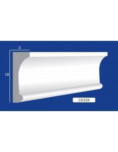 FRAME PLASTER CERAMIC WALL INTERIOR PAINTABLE 259 Rod from mt.1,5