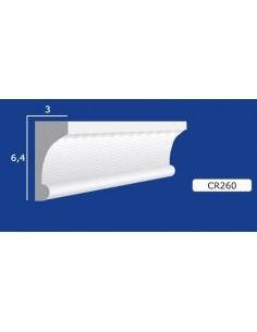 CORNICE IN GESSO CERAMICO DA PARETE 260 Prezzo Riferito A 1,5 MTL N.B. le cornici sono confezionate da cm.75