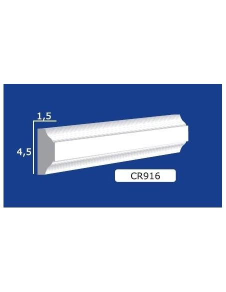 CORNICE IN GESSO CERAMICO DA PARETE Prezzo Riferito A 1,5 MTL N.B. le cornici sono confezionate da cm.75 ART.916