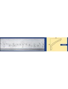 CORNICE IN GESSO CERAMICO DA PARETE Prezzo Riferito A 1,5 MTL N.B. le cornici sono confezionate da cm.75 ART.206