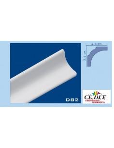 Cornice in polistirolo e polistirene estruso 35x35 h.200 ART.DB2 confezione 10 mt (5 Aste)