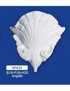APPLIQUE FOR INTERIOR PLASTER CERAMIC PAINTABLE ART. 432