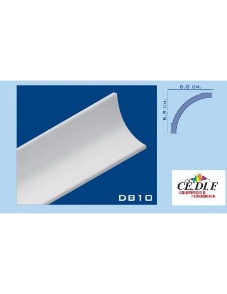 Cornice in polistirolo e polistirene estruso 68x68 h.200 ART.DB10 Confezione 10 mt ( 5 Aste)