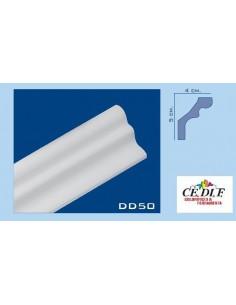 Cornice in polistirolo e polistirene estruso 50x40 h.200 ART.DD50 Minimo d'ordine 10 mt